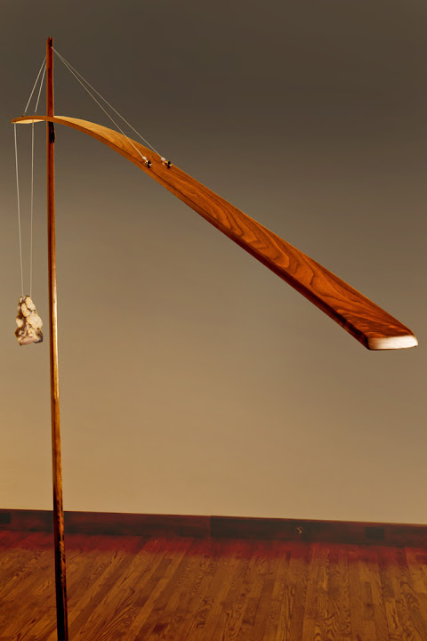 Crane Wood Lamp