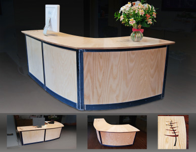 Handmade desk for the Ah Haa School