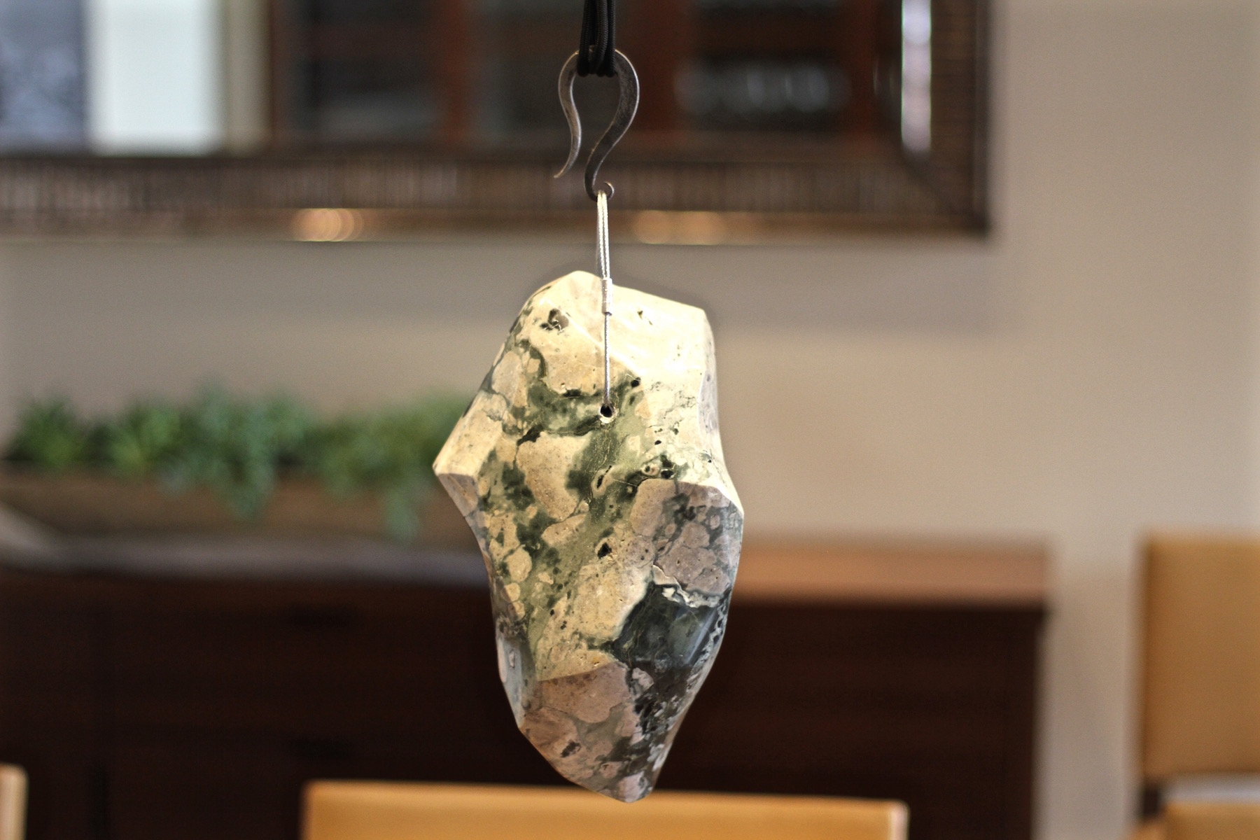 Polished stone counterweight for adjustable chandelier couterweight for carmel chandelier aloadofball Images