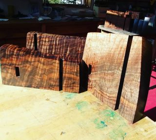For the love of wood. Some future shelf parts. #finefurniture #handmade #custom #woodworking #Telluride #santafe #oneofakind #art #interiordesign #walnut #figured #clarowalnut