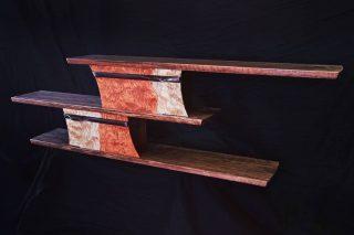 One of eight slider boxes. #finefurniture #handmade #custom #woodworking #Telluride #santafe #walnut #wallshelf #storageideas #sculpted #interiordesign #furniture